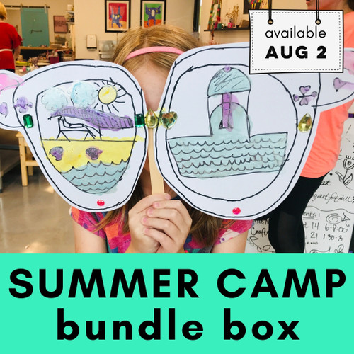 Sample Box - contents vary | Summer Camp Bundle Box - Easy Art Projects, Craft Supplies and Classes for Kids | small hands big art