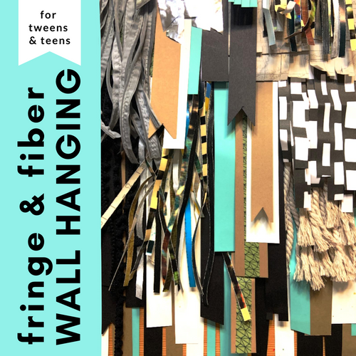 Fringe and Fiber Wall Hanging Craft Kit | small hands big art