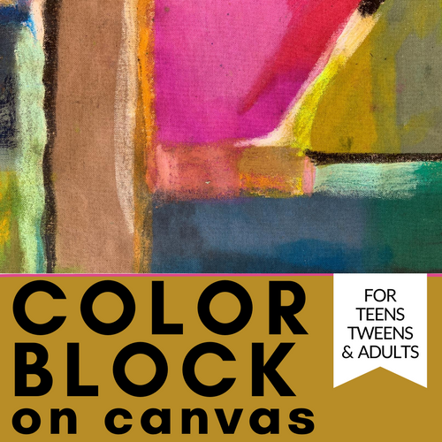 Learn to Color Block on Canvas with this craft kit and video tutorial | small hands big art