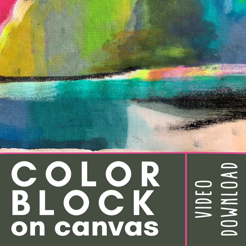 An online video tutorial that accompanies our Color Block on Canvas Craft Kit | small hands big art