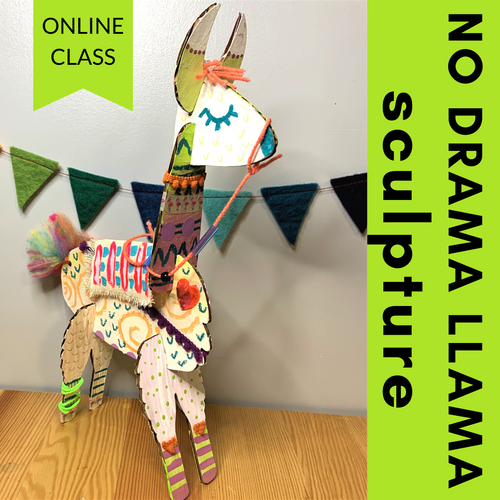 Step by step video tutorial that accompanies our No Drama Llama Craft Kit | small hands big art