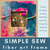CRAFT KIT: Kids Simple Sewing Fiber Arts Frame for Toddler and Preschool | small hands big art
