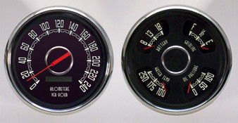 Woodward vintage classic gauges instrument metric kph km/h speedo