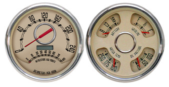 "5"" 4-3/8 speedo/tach combination metric kph km/h"