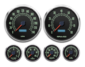 69 SERIES 6 GA KIT 4-3/8 SPEEDO AND TACH 240 kph