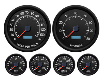 AVIATOR  6 GA KIT 4-3/8 SPEEDO AND TACH