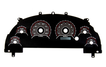 99-04 MUSTANG CLUSTER OVERLAY CFR RED
