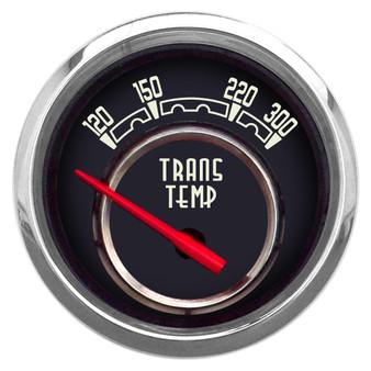 "WOODWARD TRANS TEMP 2-1/16"" W/SENDER BLACK"