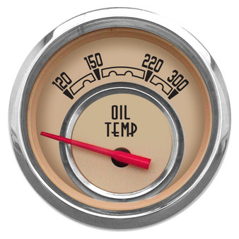"WOODWARD OIL TEMP 2-1/16"" W/SENDER BEIGE"