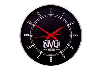 PROMO WALL CLOCK-WOODWARD BLK