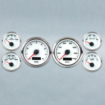 PERFORMANCE 6 GAUGE KIT 3-7-16 2-1/16 PROG  WHT