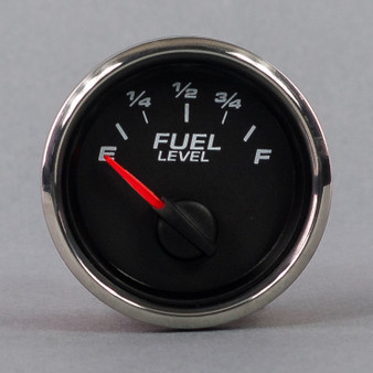 "2-1/16"" FUEL LEVEL GAUGE 90-0 BLACK"