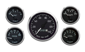5 GAUGE KIT MECHANICAL SPEEDO BLACK