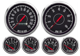 1967 SERIES 6 GAUGE KIT  MECH SPEEDO BLACK 0-90 GM FUEL