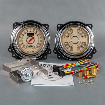 47-53 GM Truck package Woodward speedo/tach-quad