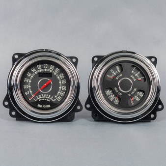 47-53 GM Truck WOODWARD  SPDO/TACH QUAD  BLACK