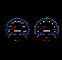 LED backlit custom 3-1 gauges NVU
