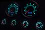 retro muscle led lighting gauges green