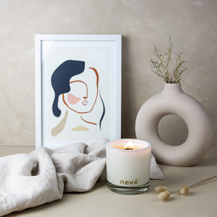 Neve French Pear + Brown Sugar Candle Medium