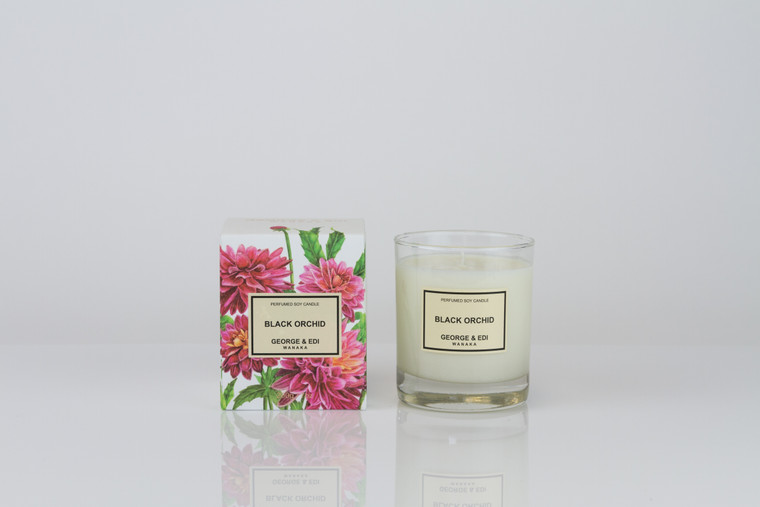 George & Edi Candle - Black Orchid