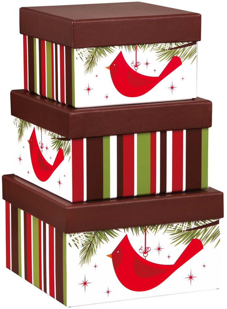 These striking and festive stacking boxes make a great decorative accent in the home, can be used as organizers for pictures, scarves, stationary, keepsakes and accessories, and are easy to store when not in use.   They are filled with a delicious array of sweet and savory snacks, desserts and gourmet items. Includes:These striking and festive stacking boxes make a great decorative accent in the home, can be used as organizers for pictures, scarves, stationary, keepsakes and accessories, and are easy to store when not in use, They are filled with a delicious array of sweet and savory snacks, desserts and gourmet items. Festive stacking boxes that will decorate home or office, filled with a delicious assortment including: chocolate chip cookies, chocolate sea salt caramels, fine assorted chocolates, chocolate truffle cookies, caramel corn, pistachios, almonds, pretzels, cheese and crackers, and more.