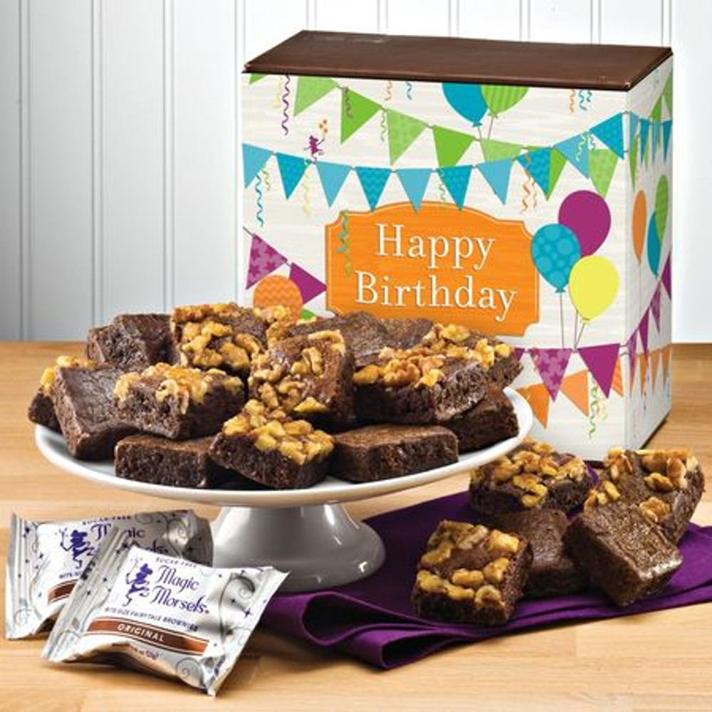 36 delicious sugar free brownies.  This product is baked fresh and shipped the same day from the bakery. Please allow three to four business days depending on destination.
