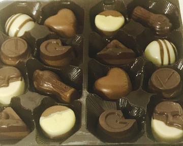 Includes a beautiful gift box of fine Belgian chocolate truffles!
