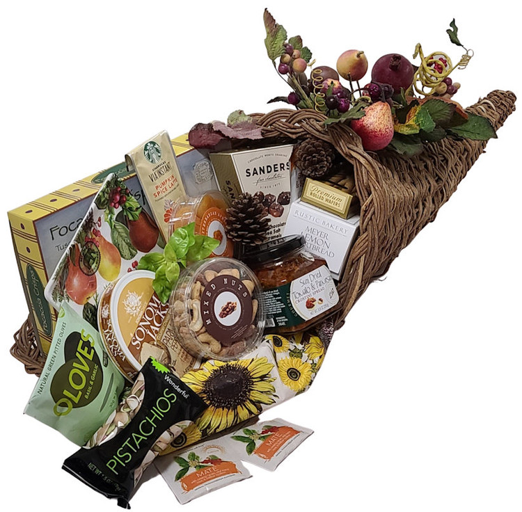 Cornucopia Holiday Gift Basket