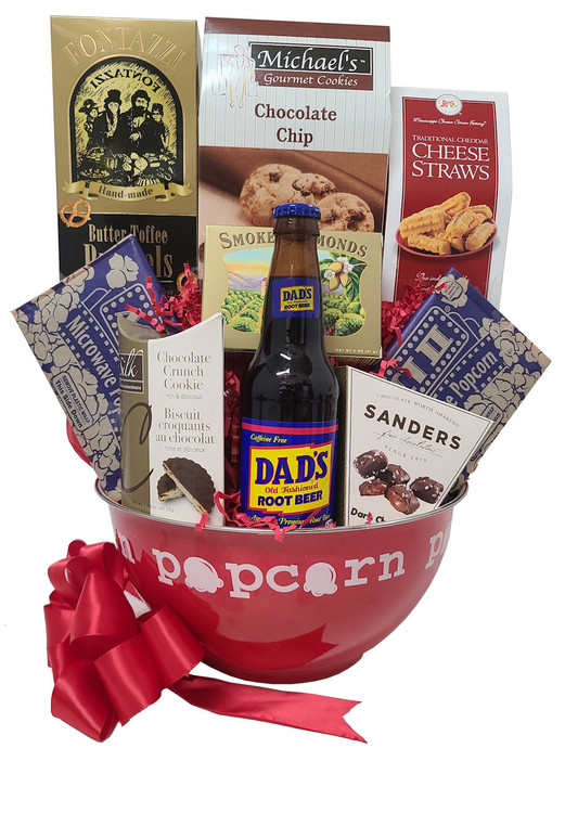 This adorable arrangement guarantees to deliver a big smile! The plush  big bear will make him feel like he got a big hug! Includes a wood frame that says Best Papa Bear, chocolate chip cookies, chocolate truffle cookies, fudge bites, gourmet pretzels, smoked almonds, Sonoma Jack cheese, crackers, shortbread, and gold platter.  Items of equal or greater value may be substituted depending on availability and the discovery of great new products.