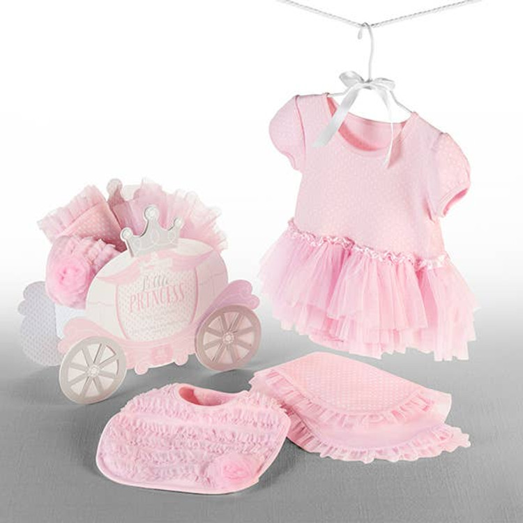 This adorable Little Princess outfit comes packed in a Princess Carriage Box that will make a cute organizer in the baby's room.