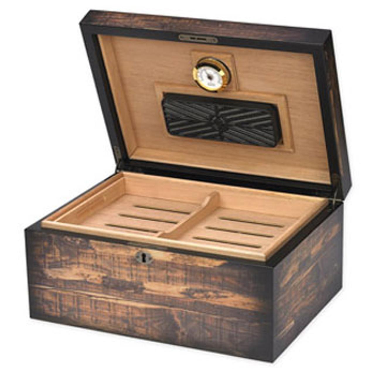 Desktop Cigar Humidor: Adirondack 100 Cigar Desktop Humidor