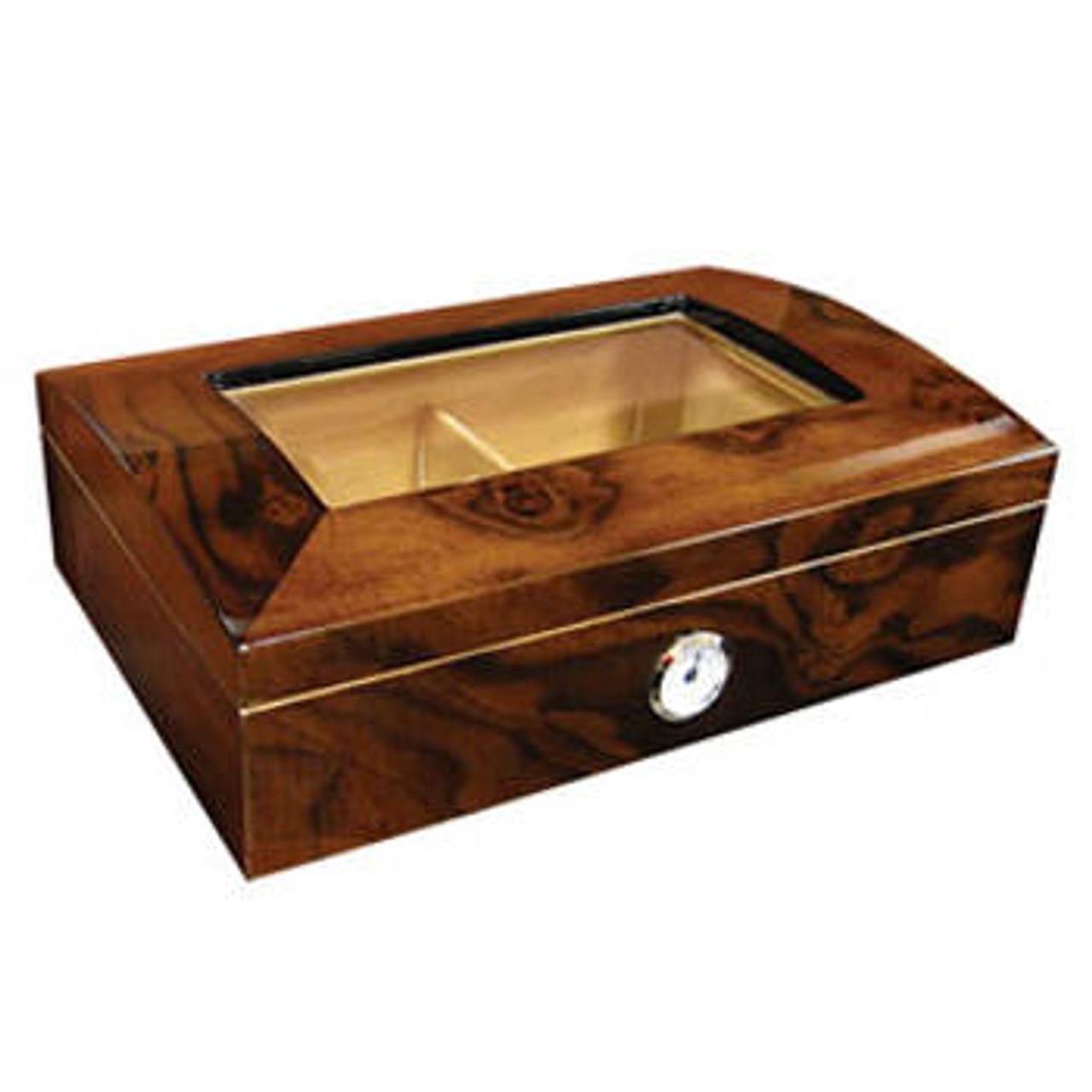Glass Top Cigar Humidor: Addison 40 Cigar Humidor