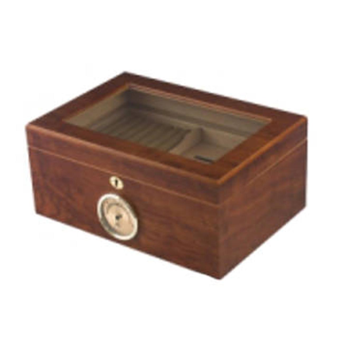 Glasstop Cigar Humidor: Bally 100 Cigar Humidor