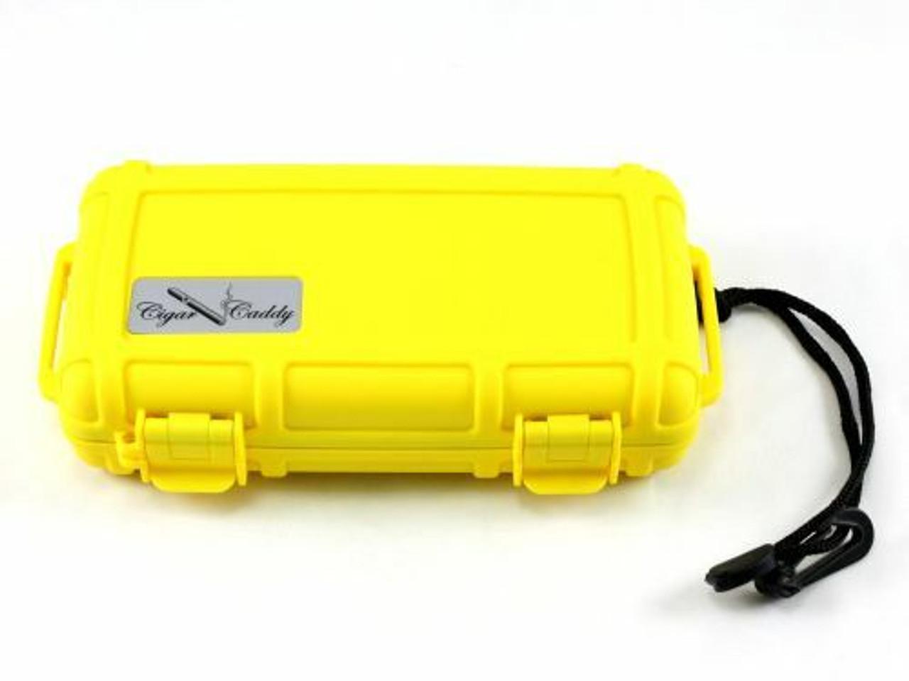 Cigar Caddy - Bright Yellow 5 Cigar Travel Humidor