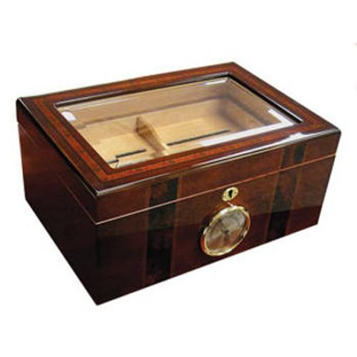 Glasstop Cigar Humidor: Ambassador 100 Cigar Humidor