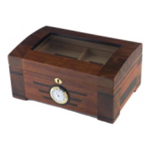Glasstop Cigar Humidor: Art Deco 60 Cigar Humidor