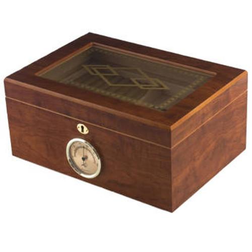 Glasstop Cigar Humidor: BallyII 100 Cigar Humidor
