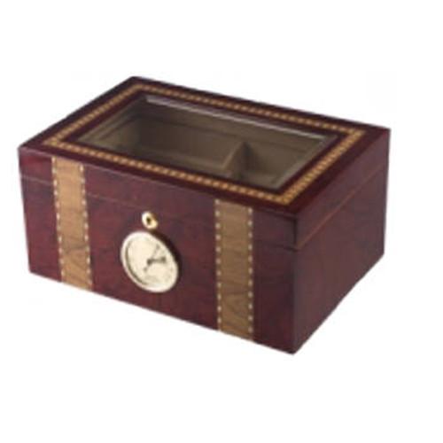 Glasstop Cigar Humidor: Churchill 125 Cigar Humidor