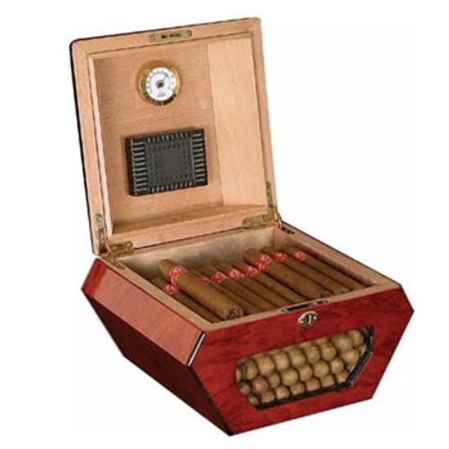 Desktop Cigar Humidor: Cuban Wheel 50 Cigar Humidor