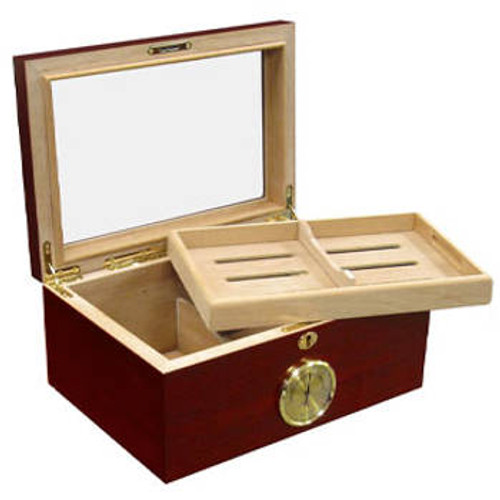 Desktop Cigar Humidor:  Berkeley 100 Cigar Humidor