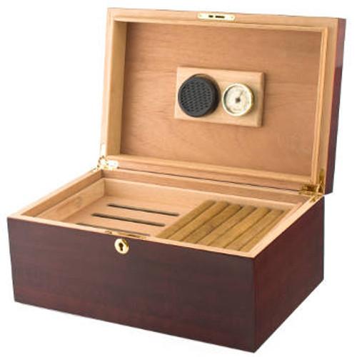 Desktop Cigar Humidor: VG-100 CH Cherry 100 Cigar Humidor
