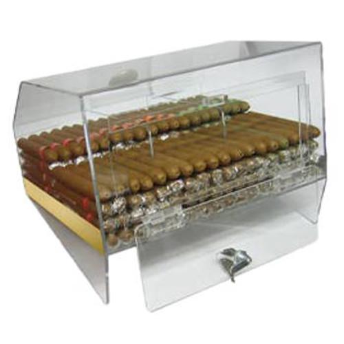 The Laurence:3 Bin Acrylic Display Cigar Humidor