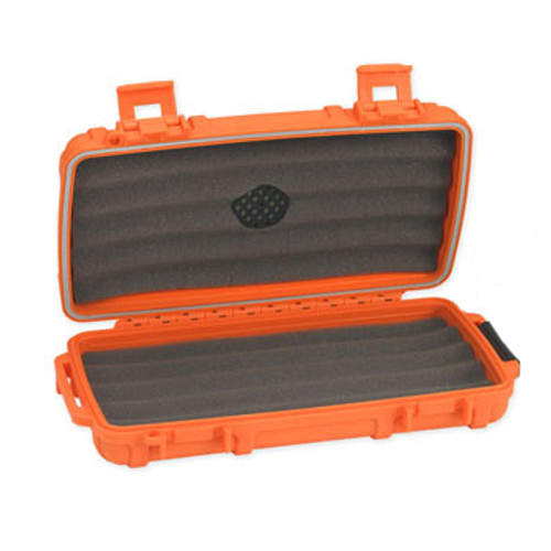 Cigar Caddy - Blaze Orange 5 Cigar Travel Humidor