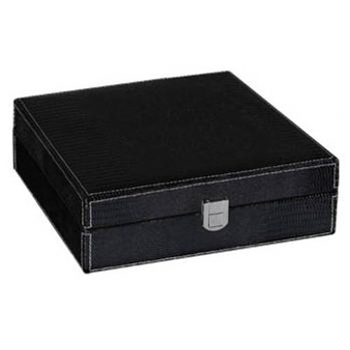 Black Alligator Cigar Humidor Gift Set