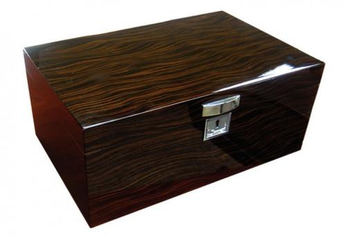 Desktop Cigar Humidor: The Princeton Ebony Desktop  Humidor