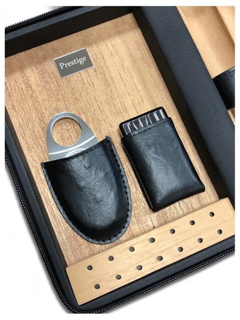 The Manhattan Travel Cigar Case Humidor - Black