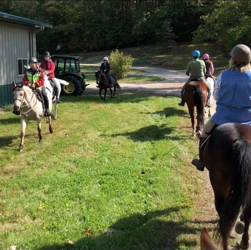 Riding in Groups  with Natural Obstacles - August 15th