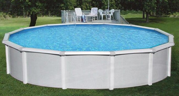 Asahi Pools Samoan Round Above Ground Pool Package 52 Deep with 8 Top Rail