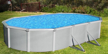 Asahi Pools Samoan Oval Above Ground Pool Package 52 Deep with 8 Top Rail