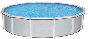 Asahi Pools Samoan Round Above Ground Pool 52 Deep with 8 Top Rail